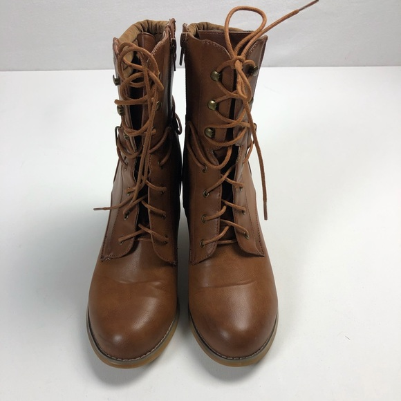 Olivia Miller Lace Up Granny Boots Size